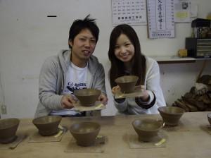 完成した茶碗