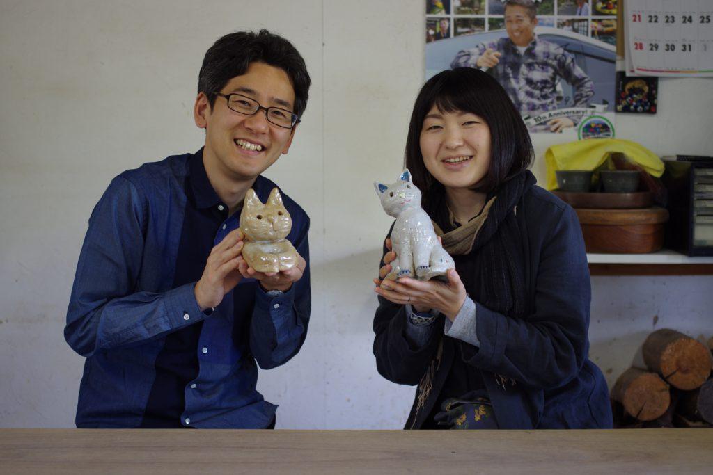 猫を作る陶芸体験の画像
