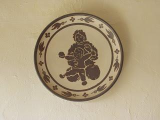 鉄絵皿 みかんが大好き の画像